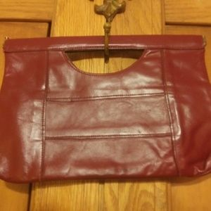 Red leather vintage Made in Hong Kong